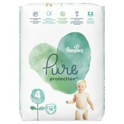 Pampers Pure Protection Gr. 4 Maxi 9-14 kg Tragepack, 19 Stück