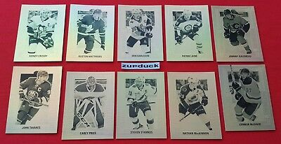 🏒18/19 UD Tim Hortons ☆GOLD ETCHINGS SET☆ Complete Set (10)  Free Shipping!!!