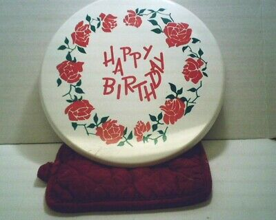 Vintage Happy Birthday Revolving Musical Cake Stand