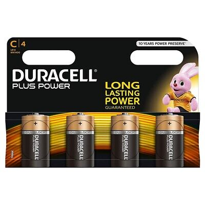 4 Pack of Duracell PLUS POWER C Cell LR14 MN1400 MX1400 Alkaline Batteries
