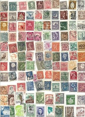 100 Different cancelled Worldwide  Stamps 10/15B