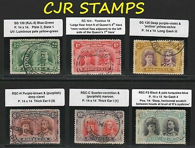Rhodesia 1910 Double Heads To 1/-  Used  (6 Stamps)    -   Mostly  Fine