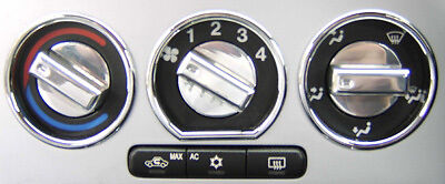 Vauxhall Astra G Mk4 Alloy Aluminium Heater Controls Dials - Polished Or Brushed