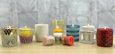 Official Yankee Candle Holder + 3 Classic Votive Samplers Mystery Lucky Dip Gift