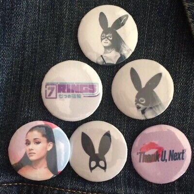 "ARIANA GRANDE - Button Pin Pack - Thank U, Next / Dangerous Woman (1.25"")"
