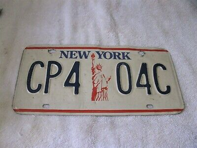 Antique Vintage New York NY Metal Auto License Plate Statue of Liberty 1960's?