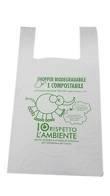 Busta mini shoppers biodegradabli e compostabili confezione da 500 pz