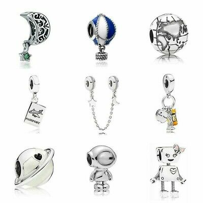 Silver Plated Bead Fairytale Animal Love Holiday Charm Pandora Bracelet Necklace