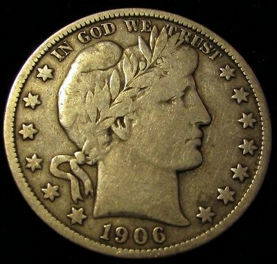 1906 S Barber Half Dollar  Better Date  Pleasing Example w/ Nice LIBERTY Detail