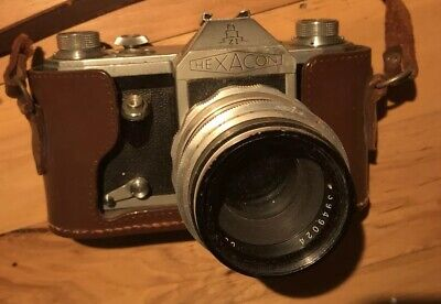 Hexacon ZI 35mm SLR camera (Contax D) w/ 58mm F2 Carl Zeiss Jena lens Untested