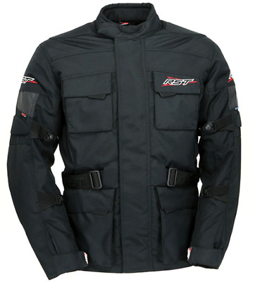 RST Alpha 3 Waterproof Touring Textile Motorcycle Jacket - BLACK 40 SMALL