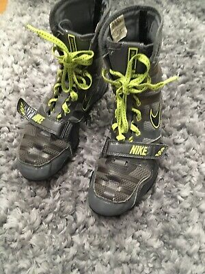 Nike Hyper KO boxing Boots Size US7/UK6 Dk Grey/black cool, Grey Volt