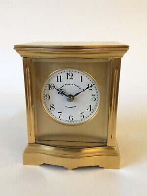 Edwardian Bow Fronted Carriage Clock Retailed By Page Keen & Page Ltd, Plymouth.