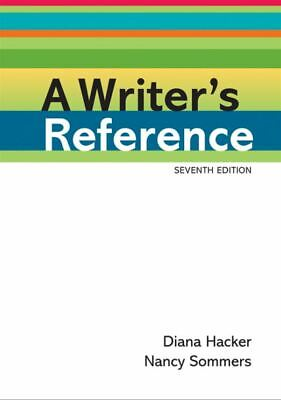 A Writers Reference by Diana Hacker and Nancy Sommers {PDF} Fast Delivery
