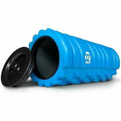 Deep Tissue Foam Roller for Muscle Massage with End Caps and Storage