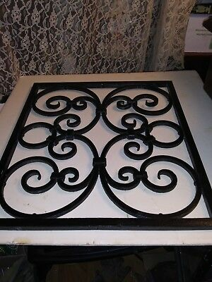 Antique Floor Wall Grill Grate Cast Iron 14x16 Ornate Victorian Register 3 Avail