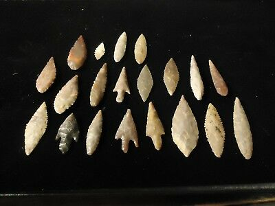 Beautiful Neolithic Stemmed Points* Authentic * lot of 20  #2