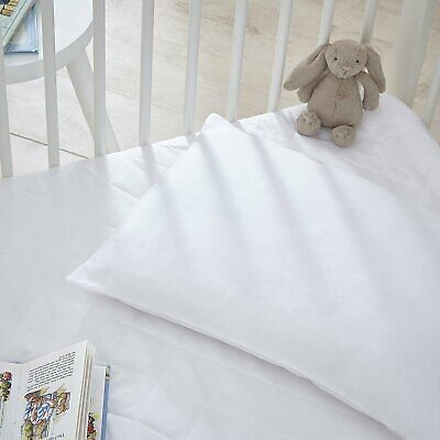 Cot Bed Pillow Anti Allergy White Hypoallergenic Nursery Baby Toddler Junior New
