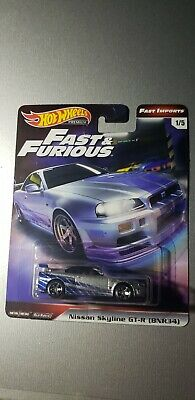 Hot Wheels Fast and Furious 2019 SET of 5🔥🔥 Fast Imports Real Riders Premium.