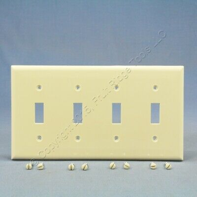 Cooper Lt Almond 4G UNBREAKABLE Switch Cover Wall Plate Nylon Switchplate 5154LA
