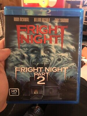 Fright Night Blu Ray Part 1 & 2! Extremely Rare Horror!