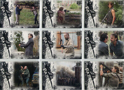 Walking Dead Hunters Hunted Epic Battles Complete 11 Card Chase Set EB-1 - EB-11