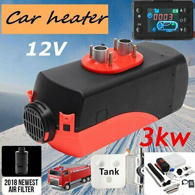 12V 3KW Diesel Air Heater Tank Vent Duct Thermostat Caravan LCD switch HeizungG@