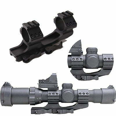 Daul 30mm Ring 20mm Mount Picatinny Rail QD Quick Release Alum for Rifle Scope