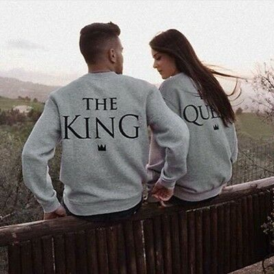 Fashion T-Shirt The King and His Queen Love Matching Shirts Couple Tee Tops