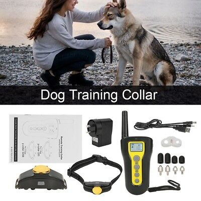Waterproof Rechargeable Electric Remote Control Dog Training Collar Non Bark HT