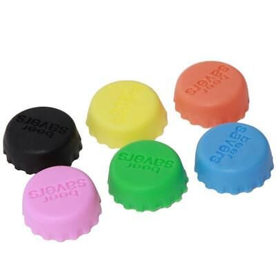 6pcs/1 set Beer Savers Bottle Stoppers Silicone Colorful Corks Cap Kitchen Tools