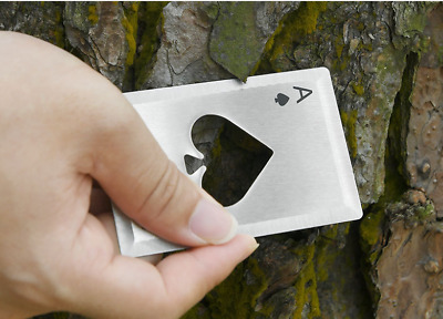 5pcs Metal Outdoor Concealed Poker Playing Cards Cool Bottle Opener Throwing Toy