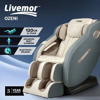 Livemor 3D Electric Massage Chair SL Track Full Body Air Bags Shiatsu Massaging