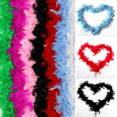 2M Feather Boa Strip Fluffy Craft Costume Hen Night Dressup Wedding Party