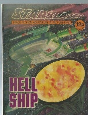 Hell Ship,starblazer Space Fiction Adventure In Pictures,comic,no.13