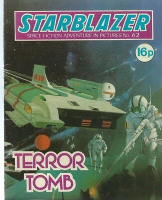 Terror Tomb,starblazer Space Fiction Adventure In Pictures,comic,no.62
