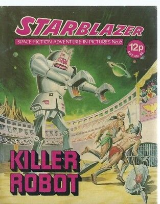Killer Robot,starblazer Space Fiction Adventure In Pictures,comic,no.6