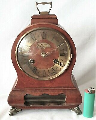 Warmink Clock Dutch Cabinet Mantel 8 Day Clock With Pendulum & Bell Strike