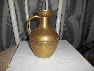 Antique Victorian Edwardian Classical Design Brass Water Jug By Henry Loveridge
