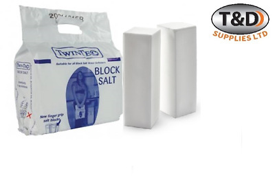 TWINTEC/HARVEYS/KINETICO BLOCK SALT FOR WATER SOFTENER (2 x 4KG BLOCKS PER BAG)