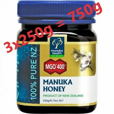Manuka Honig MGO 400+ 3x250g HEALTH MANUKA Honey New Zealand