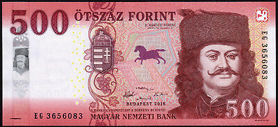 HUNGARY 500 FORINT 2018 ( 2019 ) Banknote * UNCIRCULATED / NEW
