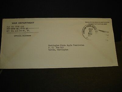 APO 164 KARLSRUHE, GERMANY 1954 Official Army Cover EDUC Org 7755 AU
