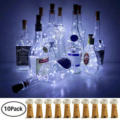 Wine Bottle Lights with Cork 10 Pack Battery Operated LED Cork Shape