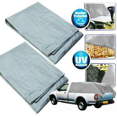 Multi-Purpose Waterproof Tarpaulin Ground Sheet Tarp Strong Tear Proof Car Cover