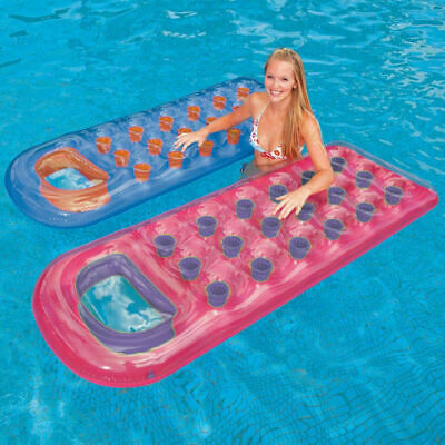 Intex 18 Pocket Lounger Inflatable Lilo Float Swimming Pool Beach Air Bed