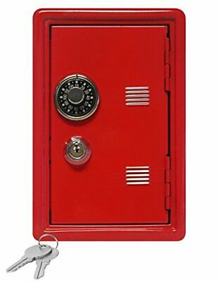 """Kid's Coin Bank Locker Safe with Single Digit Combination Lock and Key - 7"""""""
