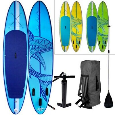 """Sup Board Stand Up Paddling Planche de Surf """" Requin """" 320cm Gonflable Pagaie"""
