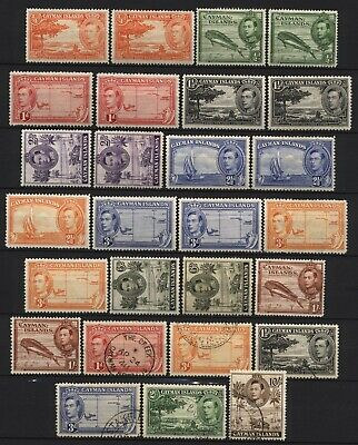 Cayman Islands From 1938 Collection KGVI Multi Design Values Used / Unused M
