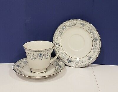 NORITAKE - BLUE HILL #2482 - Contemporary Fine China - CUP AND SAUCER